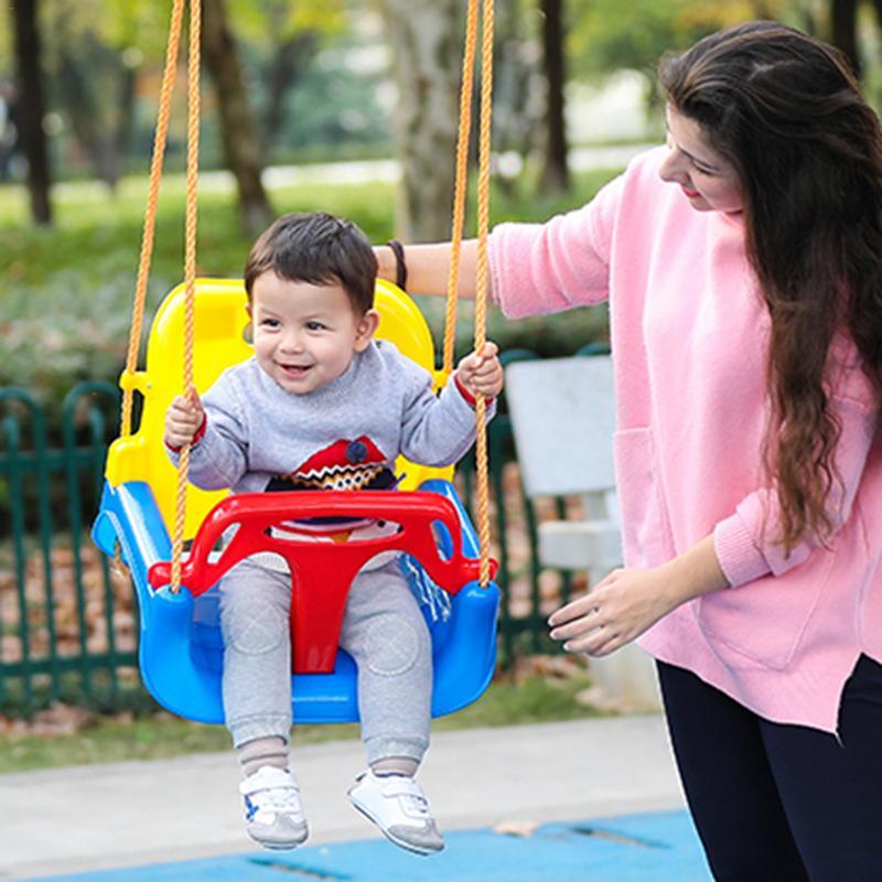 Balançoire pour enfants maison bébé balançoire accessoires haute qualité en plastique réglable en hauteur avec accessoires avec ceinture de sécurité