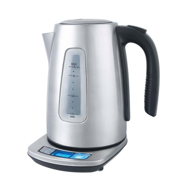 Чайник электрический GEMLUX GL-EK7420 (Мощность 2200 Вт, объем 1,7 л, корпус из нержавеющей стали, Функция установки и поддержания температуры)