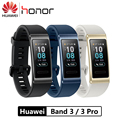 Original Huawei Band 3Pro Smart Band 3 Real-time Heart Rate GPS NFC Monitoring 50 meters Waterproof Fitness Tracker Push Messag