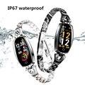Женский браслет H8 женские модные спортивные часы кровяное давление монитор сердечного ритма фитнес-трекер IP67 женский браслет H8