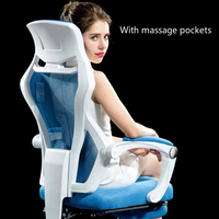 Breathable Fabric Net Cloth Computer Office Massage Gaming Chair cushion seat Household Rotation Reclining With Pillow Footrest