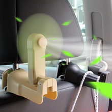 Vehicle Car Van Truck Home Clip-On Fan Universal Hook Multifunctional Seat Back Styling Auto