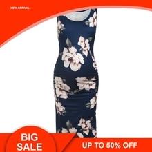 Women Sleeveless Pregnant Maternity Dress Flower Pregnancy Clothes Robe Maternite Abiti Premaman Femme