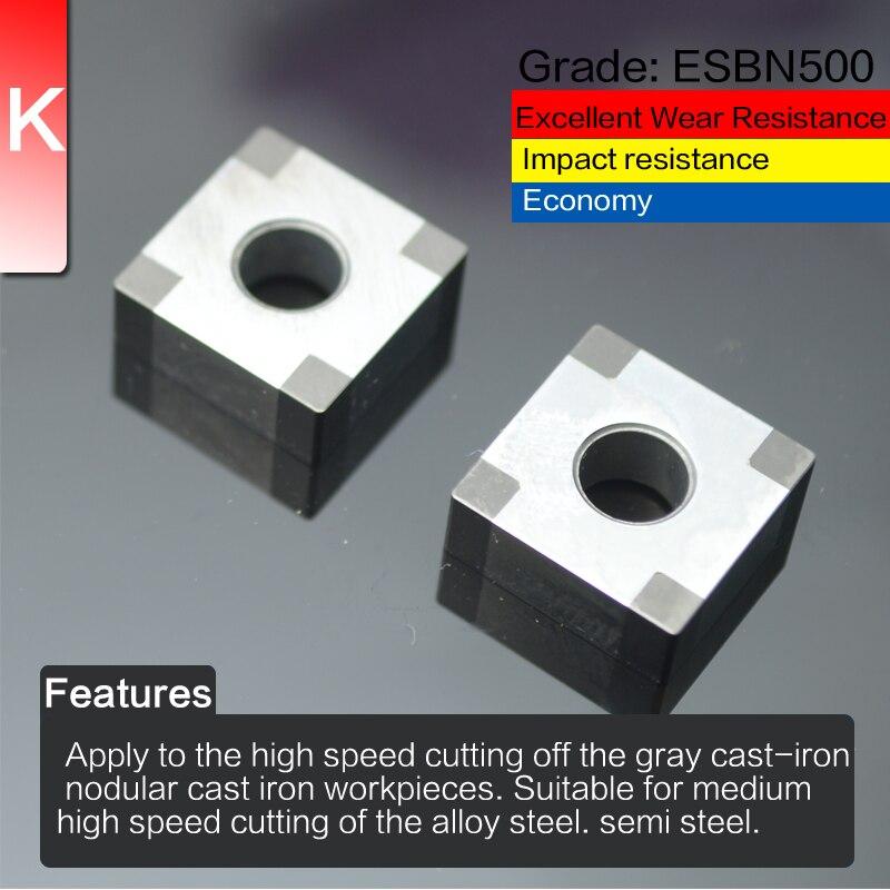 EDGEV 2 vnt. Kubinio boro nitrido CBN įdėklas SNGA120404 SNGA120408 - Staklės ir priedai - Nuotrauka 3