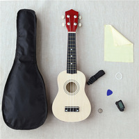 Wholesale 21 Inches Beauty Uicker Beginner Ukulele Ukelele Soprano Case Tuner Musical String Travel Guitar Music Instruments