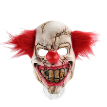 Horror Clown Mask Scary Killer Clown Mask Halloween Terror Joker Movie Face Latex Mask Carnival Bar Party Cosplay Costume Suit horror clown mask scary killer clown mask halloween terror joker movie full face latex mask