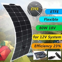 KINCO 21%Efficiency 80W 18V Monocrystalline Flexible ETFE Solar Panel Lightweight Solar Charger Panel For 12V System
