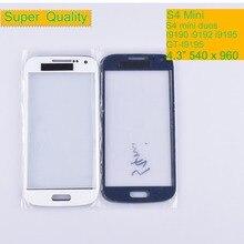 купить 10Pcs/lot For Samsung Galaxy S4 Mini i9190 i9195 i9192 GT-i9192 Touch Screen Front Glass Panel TouchScreen Outer Glass Lens по цене 575.76 рублей