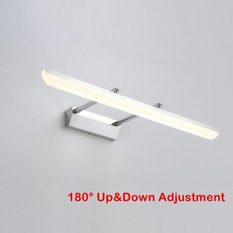 Dar Einstellbare Design Bad Wand Lampe Acryl Lampenschirm 40/60/80/100 Cm Edelstahl Led Spiegel Licht Luminaria Wandlamp Led-innenwandleuchten Licht & Beleuchtung