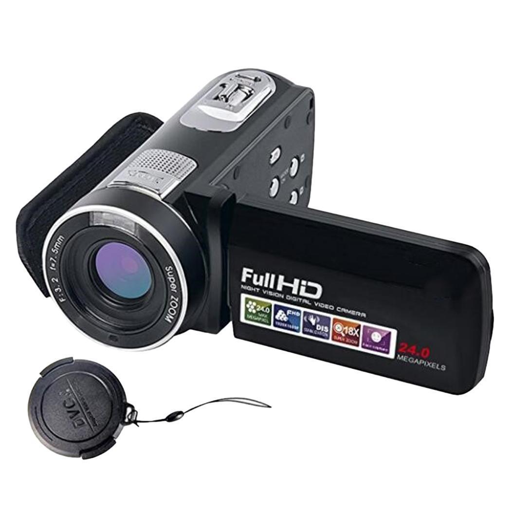Caméra vidéo numérique 1080 P Full HD Portable PAL/NTSC Close/2 s/5 s/10 s DVR USB2.0 avec écran LCD rotatif