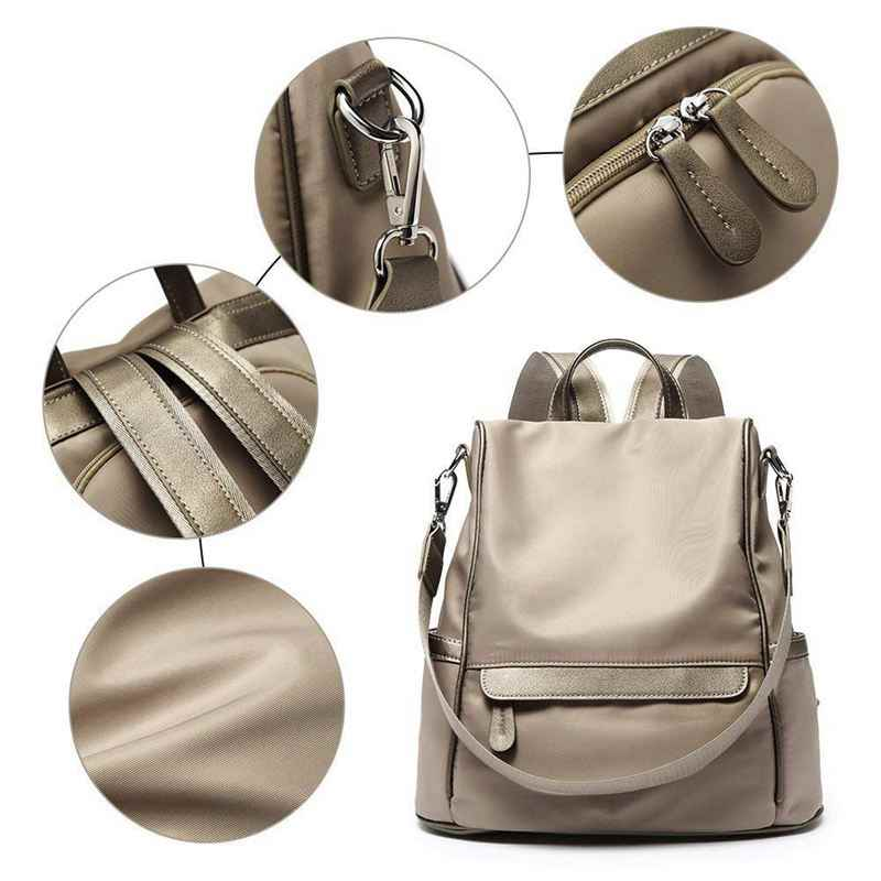Женская сумка-рюкзак нейлон Мода повседневное Кабриолет Сумка туристический коврик школьный рюкзак, светло хаки