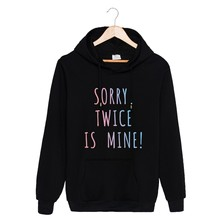 Kpop TWICE Black Women Hoodies Sweatshirt Autumn Fashion Korean cotton Hooded Popular Hip Hop Clothes