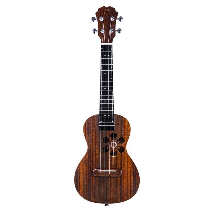 Popular S1 Smart 23 pulgadas madera ukelele pequeña guitarra para principiantes sonido increíble fácil de tocar con luz LED inteligente ukele