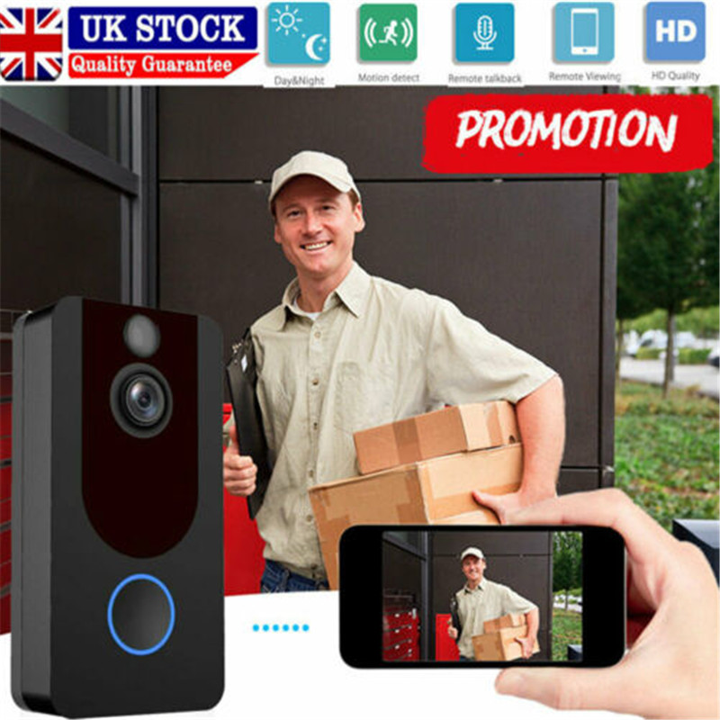 Wireless Ring Video Doorbell WiFi Security Phone Bell Intercom 1080P Intercom UKWireless Ring Video Doorbell WiFi Security Phone Bell Intercom 1080P Intercom UK