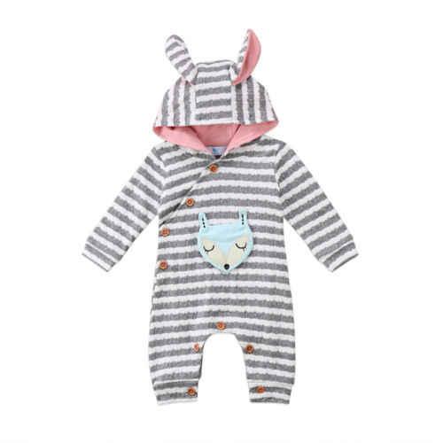 Детские комбинезоны с рисунком лисы для девочек, одежда для новорожденных, детские пижамы с героями мультфильмов, теплые зимние пижамы с животными, roupas de bebe recem nascido