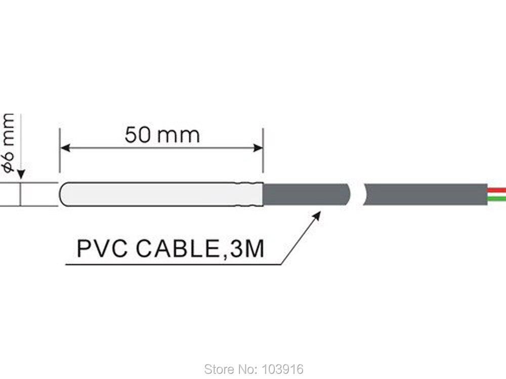 10 pces do sensor de temperatura, cabo