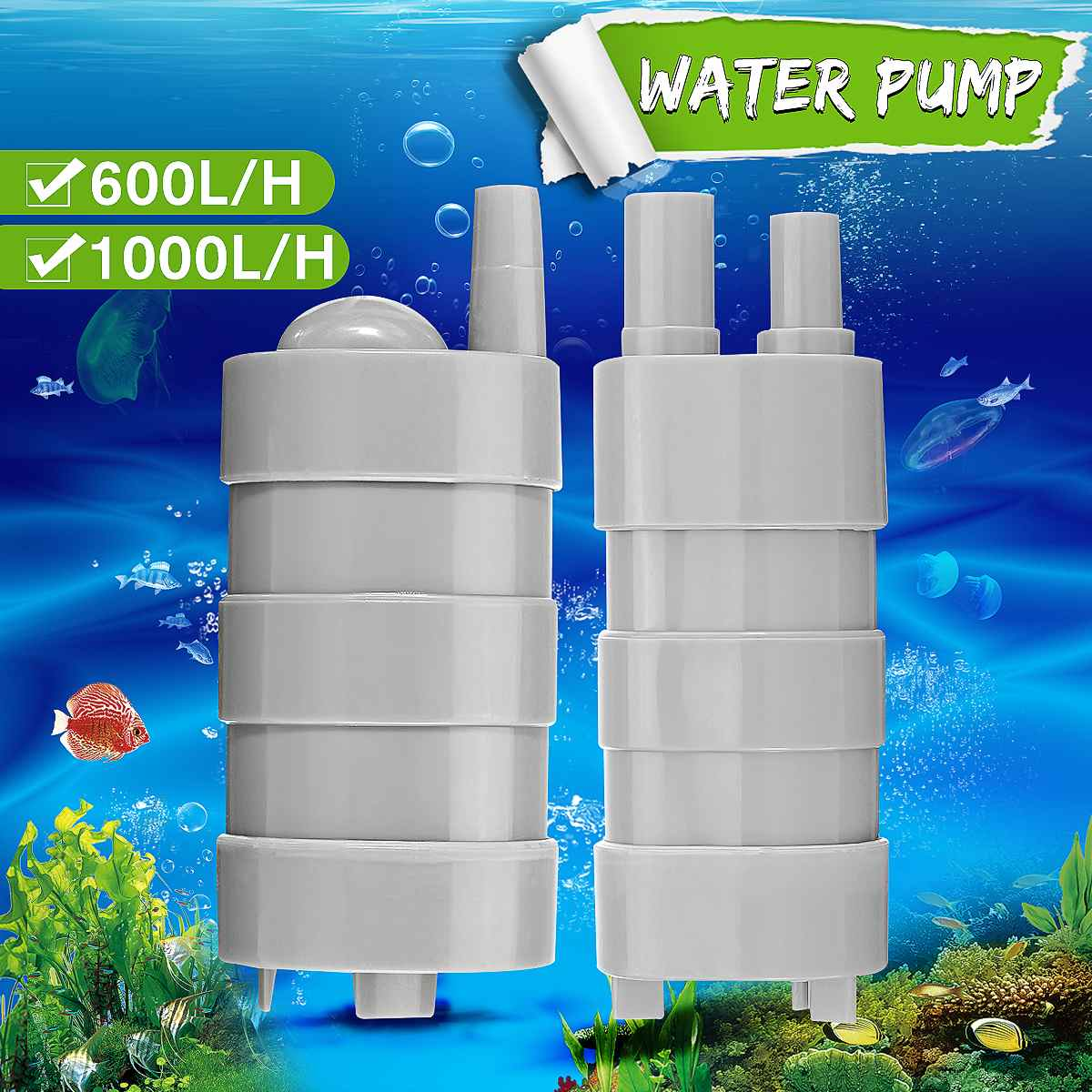 DC 12V 5M Brushless Submersible Water Pump For Fish Tank Pond Fountain Change Water 600L/H 1000L/H Flowers Pumping Water