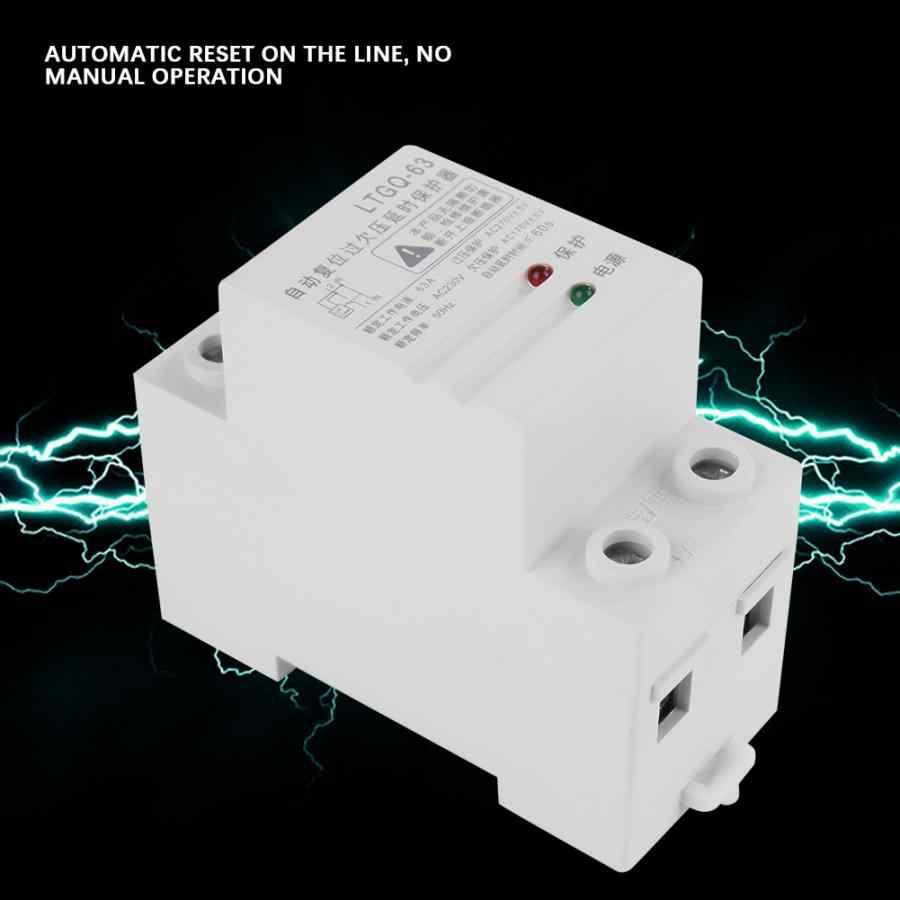 Ethernet Relay 230 V Có Thể Điều Chỉnh Tự Động Kết Nối Lại Quá Điện Áp Và Dưới Bảo Vệ Điện Áp Tiếp 2P63A rắn Rơ Le