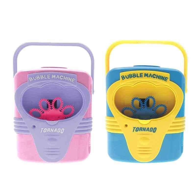 Anak-anak Otomatis Listrik Berguna Mesin Bubble Mainan Anak Sabun Meniup Gelembung Blower Pembuat Indoor Outdoor Ulang Tahun Perlengkapan Pesta