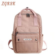 Woman Nylon Backpack Girl Fashion Back Pack Bag High School College Student Campus Packs For Female Designers Bagpack