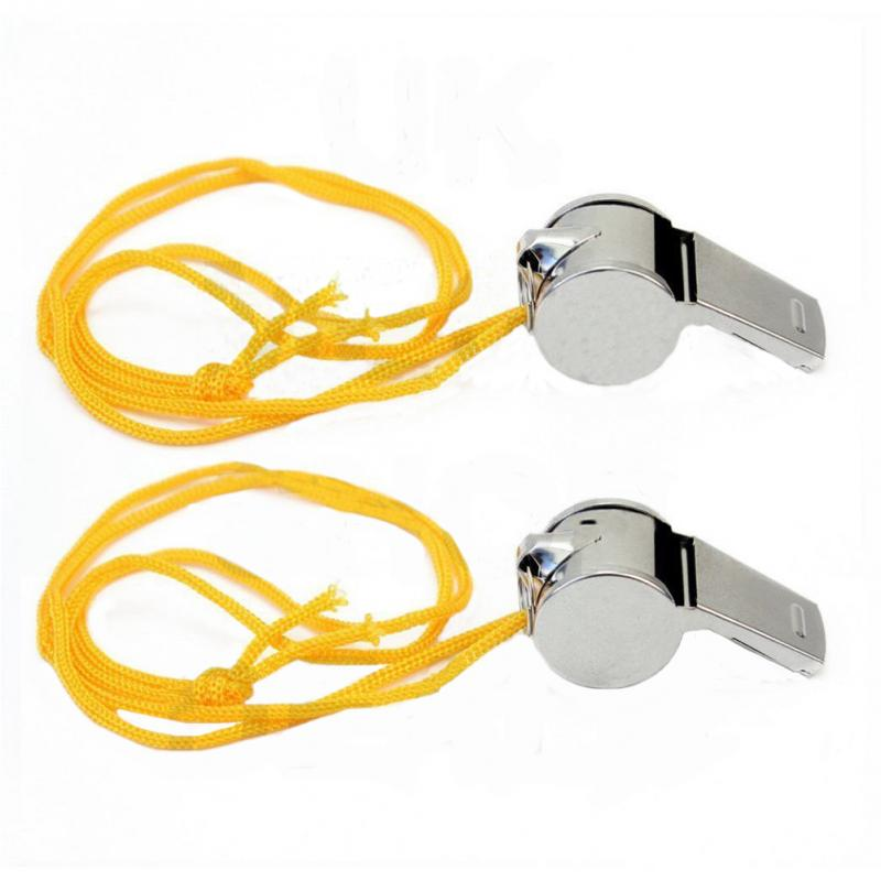 Referee Whistle Sports School Soccer Football Loud Sound Whistle Stainless Steel