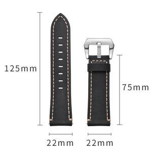 Image 5 - 22 مللي متر الذكية ساعة رياضية مع جلدية استبدال حزام ساعة اليد ل سماعة هواوي غرامة الملمس ، قوي ودائم الجلود حزام