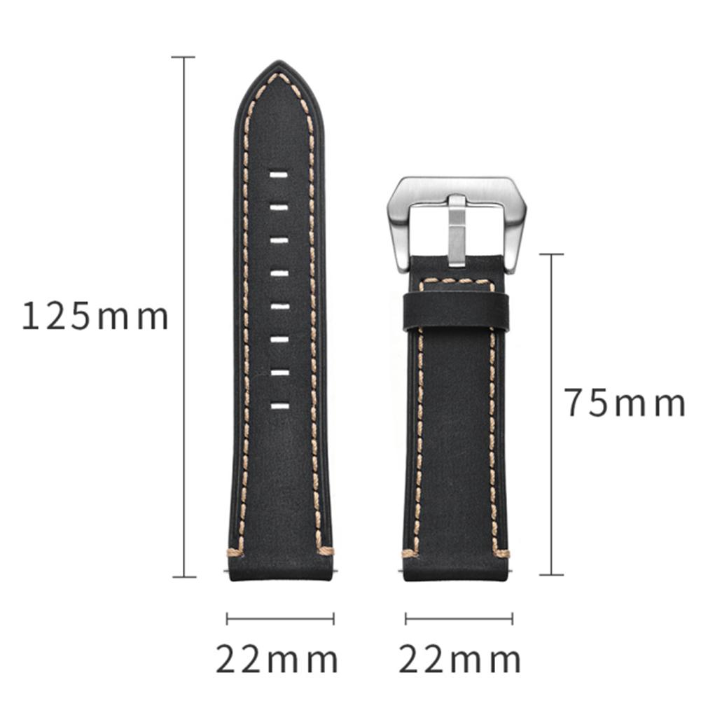 Image 5 - 22MM Smart Sports Watch With Leather Replacement Watch Strap For Huawei Watch Fine Texture, Sturdy And Durable Leather Strap-in Smart Accessories from Consumer Electronics