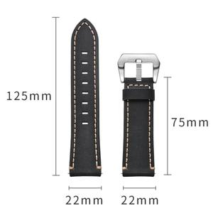 Image 5 - 22MM Smart Sports Watch With Leather Replacement Watch Strap For Huawei Watch Fine Texture, Sturdy And Durable Leather Strap