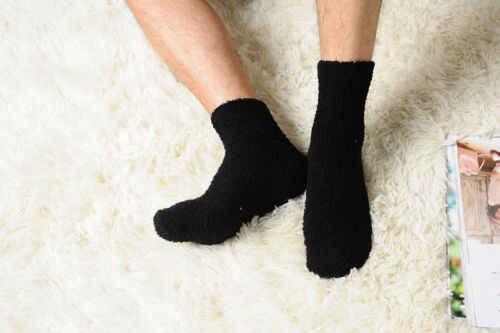 Новый бренд 2019, однотонные мужские теплые толстые коралловые флисовые Носки, пушистый сон кровать, носки, идеальный зимний костюм, новейший