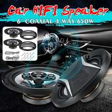 NEW 2pcs 6 Inch 650W Car HiFi Coaxial Speaker Vehicle Door A