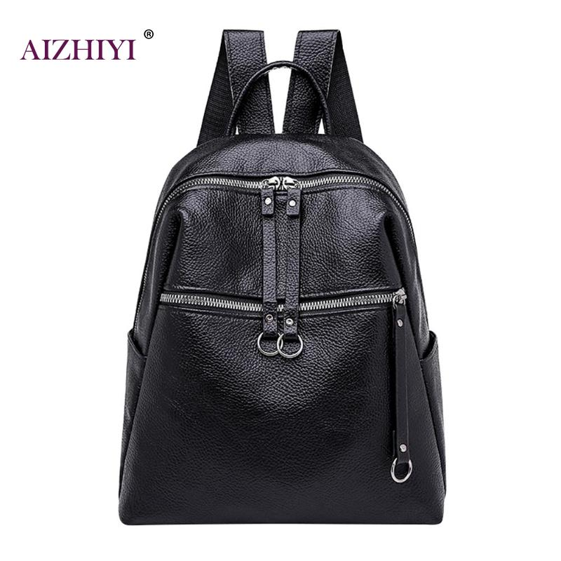 Women PU Leather Backpack Fashion Teenage Girls Portable Schoolbag Female Shoulder Travel Bag Student Girls  School Book Bags