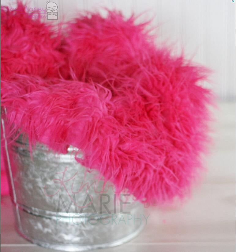 Hot Pink Mongolian Faux Fur Rug Nest Photography Photo Prop Newborn Baby Toddler Mat Backdrop Floordrop In Background From Consumer Electronics On