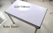Construcción de mesa multifuncional de aluminio (tablero de mesa MDF no incluido) W Nuevo 1220*738mm, mesa de montaje, mesa de enrutador