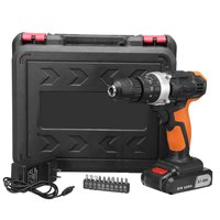 21V Two Speed Lithium Battery Rechargeable Cordless Drill Multi function Electric Cordless Screwdriver Impact Electric Drill