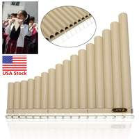 16 Pipes Pan Flute Eco friendly Resin C Tone 16 Tube Easy Learning Mouthpiece Panpipe Musical Instrument For Beginner Gift