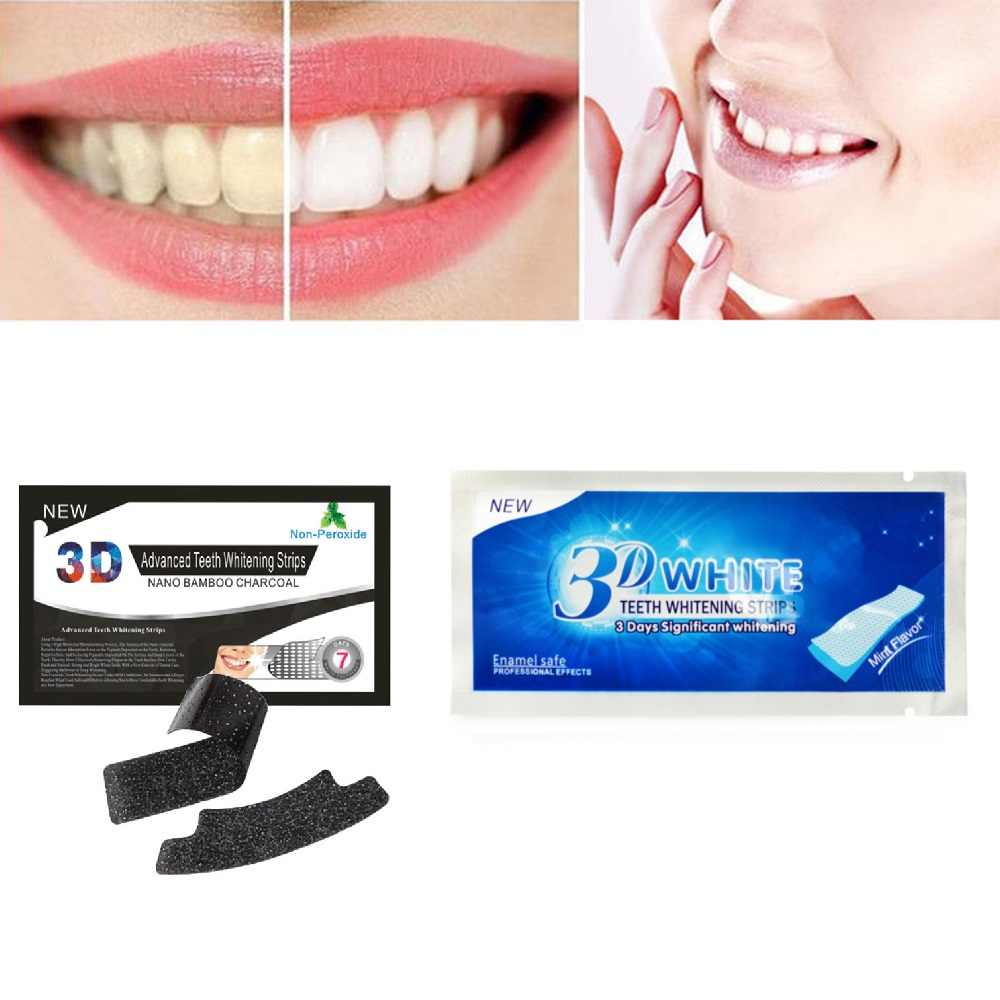 1Pc 3D Whiten Patch Teeth Oral Clean Mint Flavor Dental Teeth Whitening Strips Tooth Bleaching Whiter Oral Hygiene Care TSLM2