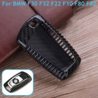 For BMW 1 2 3 4 5 6 7 X3 X4 M5 M6 Series F30 F32 F22 F10 F80 F82 Car Styling 1Pcs Real Carbon Fiber Car Remote Key Case Cover