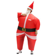 Inflatable Toys Santa Claus Father Christmas Dress Red Costume Air Suit For Adult Inflatable Carnival Party Dress Toys все цены