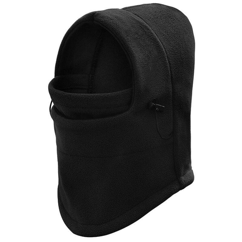 Thermal Fleece Balaclava Hat Hooded Neck Warmer Winter Sports Face Mask For Men Bike Helmet Beanies Masked Cap