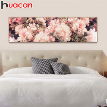 HUACAN Diamond Embroidery Flower 5D DIY Painting Cross Stitch Mosaic Rhinestones Home Decor Love Gift