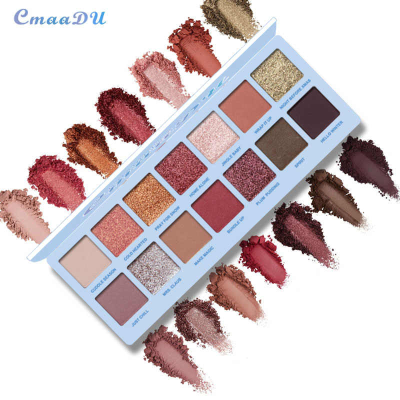 Cmaadu 新 14 色グリッターアイシャドーパレット防水長期的なシャイニング顔料スモーキーアイメイク化粧品 TSLM2