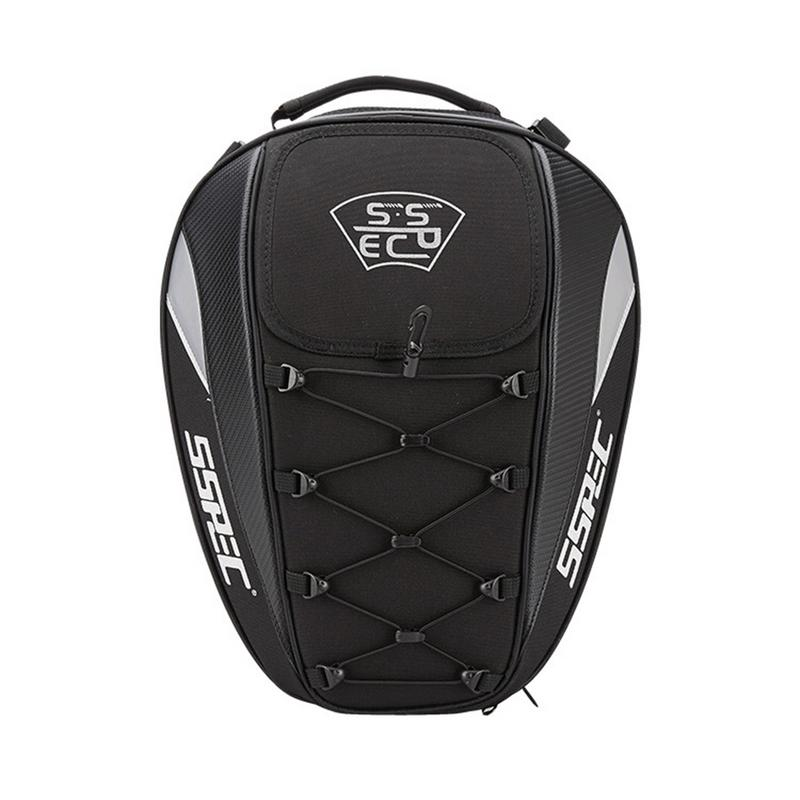 SSPEC Motorcycle Tail Package Racing Back Seat Backpack Helmet Locomotive Riding Multi Function Night Reflection Large Capacity