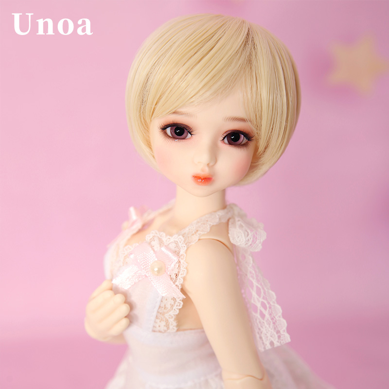 New Arrival Unoa Chibi Lilin BJD SD Doll 1/6 Body Model Children Faceplates High Quality Shop Resin Figures