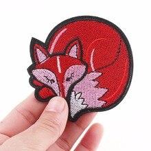 Pulaqi красная Лисичка нашивки железная одежда шляпа футболка пальто болит животных рулон патч для детей женщин украшения F