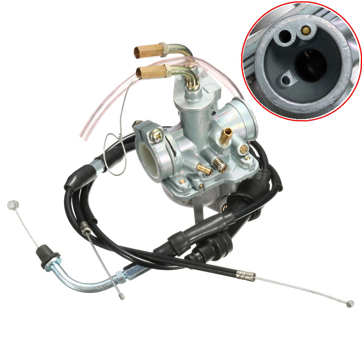 Motorcycle Carb Carburetor With Throttle Cable For Yamaha YF60 QT50 PW50 ATV Quad
