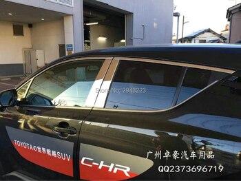 SHCHCG Cho Toyota C-HR CHR 2016 2017 2018 Bên Ngoài Thép Không Gỉ Trung Tâm Trụ Cột Toàn Bộ Cửa Sổ Trims Bìa Trims Protector 16 cái