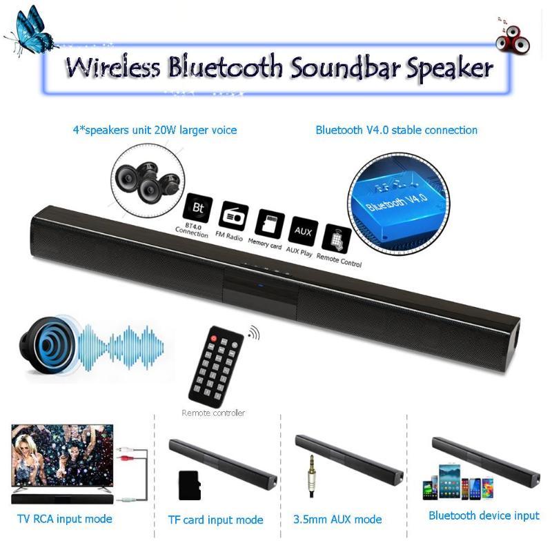 1Pcs New Wireless Bluetooth Soundbar Speaker Television Subwoofer Sound Box FM Radio Support 3.5Mm AUX TF