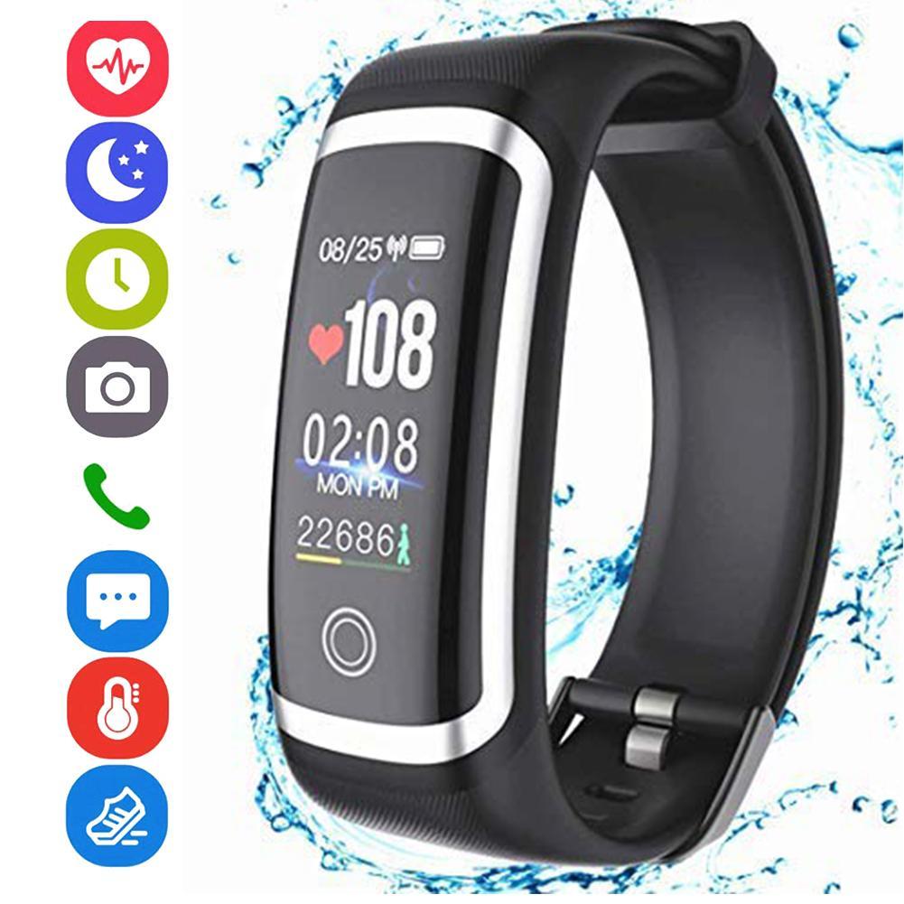 0.96 Inch Heart Rate Monitor Waterproof Sports Smart Bracelet Fitness Tracker Heart Rate Monitor Waterproof Sports