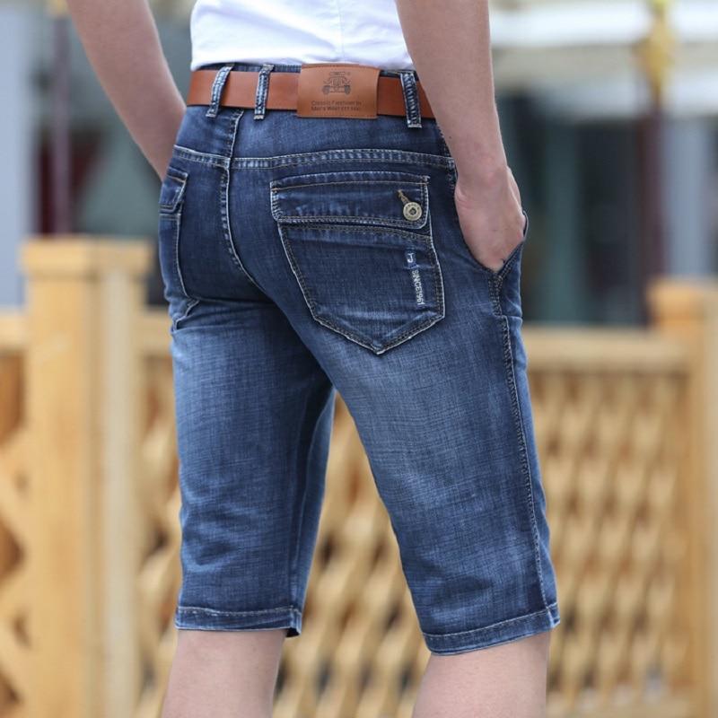 Bermuda Jeans Short Vintage Casual Breeches Cargo Many-Pockets Male Hot Classic Retro