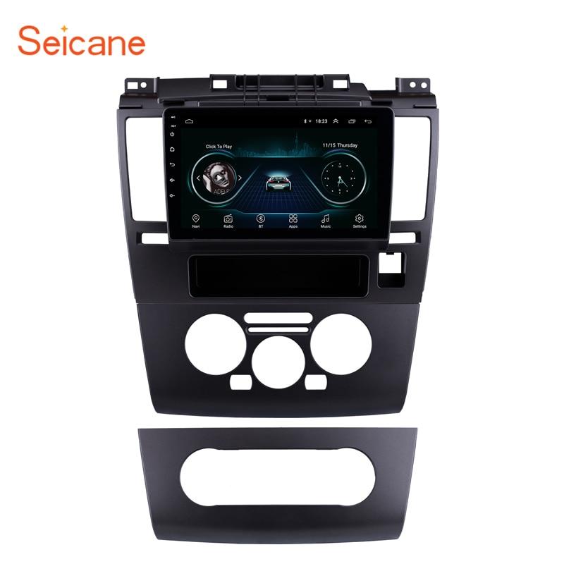 Seicane 9 дюймов Автомобильный мультимедийный плеер Android 9,1 для Nissan Tiida 2005 2006 2007 2008 2009 2010 HD сенсорный экран GPS радио